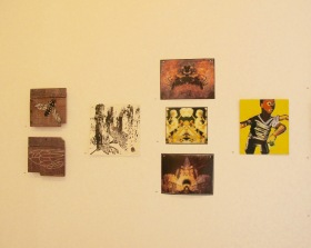 L-R Kathy Cornwall, Cuckoo Bee (Above) Wing (Below); Weniki Hensch, Honey Ancestors; Fairlie Sandilands Alchemist (Above), Construct (Middle), Nirvana (Below)